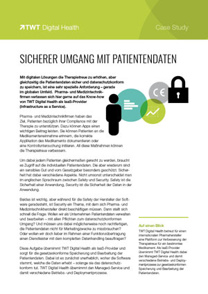 Case Study Sichere Patientendaten