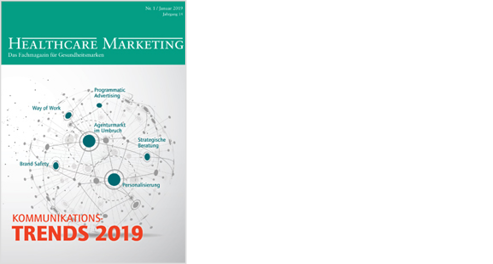 Zeitschriften-Cover Healthcare-Marketing 2019/01